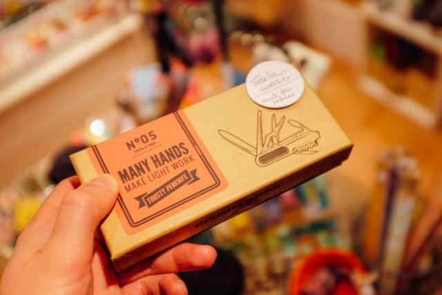 «Auch für Männer»: das Taschenmesser.