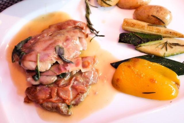 Saltimbocca alla Romana: «Schweinefilet mit Parmaschinken und Salbei».